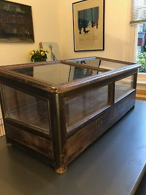 Victorian Display Cabinet in Oak and glass  (Counter top)