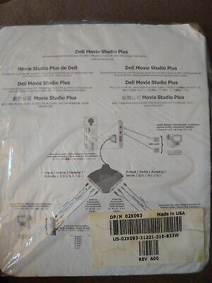 DELL MOVIE STUDIO PLUS ADAPTER NEW PN: 02x093 NEW FREE SHIPPING