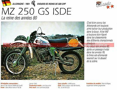 MZ 250 GS ISDE ( photo d'Harald STURM ) 1981 Fiche Moto 000221
