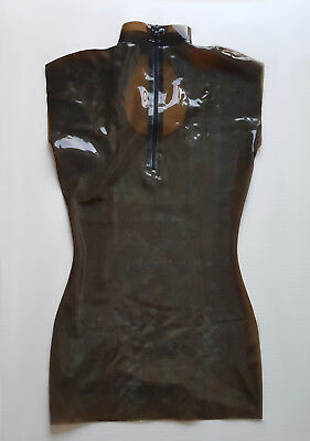 Latex rubber smokey grey transparent dress/ Tenue latex marron transparent sexy