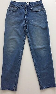 JEANS MOSCHINO VINTAGE ANNI 90 - Logo marrone