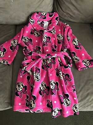 Disney Minnie Mouse Girls Robe Pink Size 4t