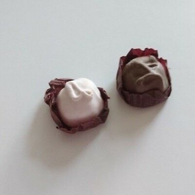 Vintage 1980s Eraser 2x Chocolate Candy Sweets Rubber Gommes