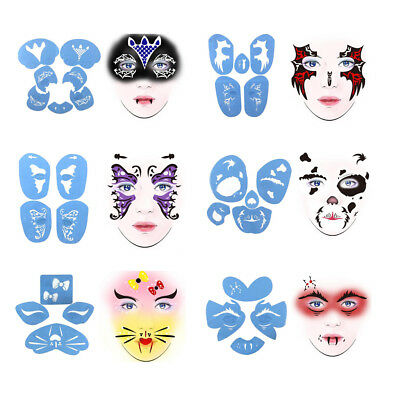 Men Women Stage Party Face Body Painting Make Up Stencil Template Reusable