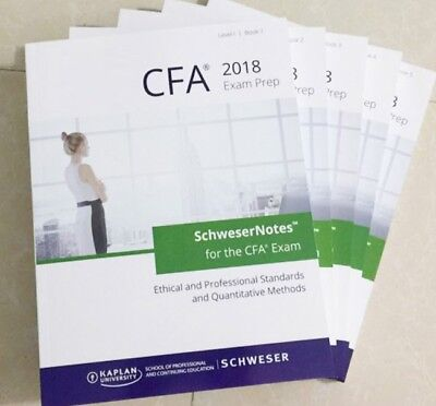 2018 CFA Level 1 Exams Kaplan Schweser Notes and Practice Exams Complete Package