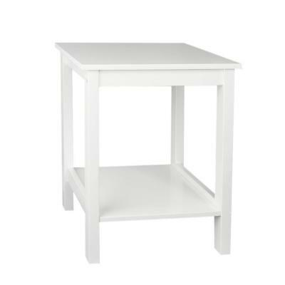 Bedside Table Cabinet Cupboard Nightstand Storage Organizer Shelving Rack White
