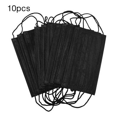 10PCS Industry Activated Carbon Dust-proof surgical disposable face mask Black