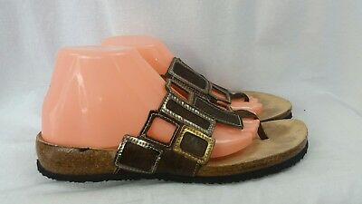 eee5109889f36d VOLATILE WOMENS FRAPPACHINO Brown Wedge Flip Flops Sandals Sz 11 ...