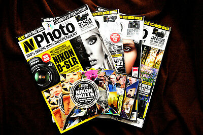 Nikon N Photo Magazine Back Issues with DVD-Choose Your Own From List.
