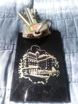 CHATEAU MARMONT Room Key Fob with keys ! Hollywood CA.   YOU DON'T SEE THESE !