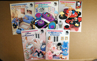 4 books - Crochet Doll furniture - Barbie size