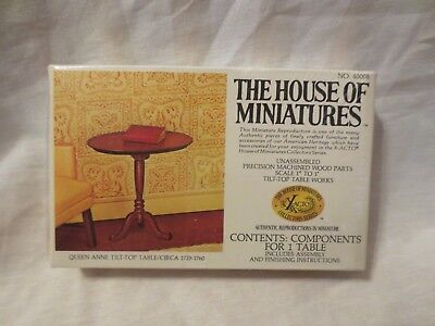 """THE HOUSE OF MINIATURES 1/12 Queen Anne Tilt-Top Table  #40008 1"""" to 1'"""