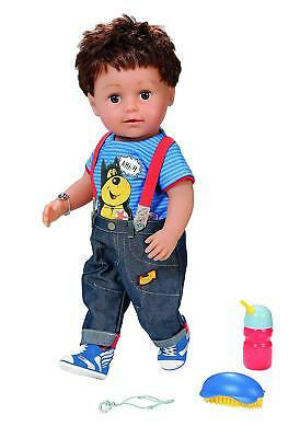 Baby Born Brother Dress-up Doll Moveable Knee Brush-able Hair Realistic Kids Toy