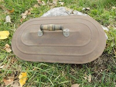 Boiler Wash Tub Old Lid Copper Galvanized Tin Amish Garden Planter Vintage f