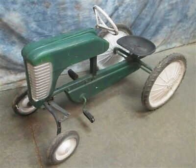 John Deere Pedal Car Oliver Tractor Steering Vintage Farm Ride On Toy