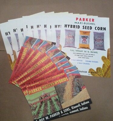 Group Of 20 Brochures Parker Seed Corn Kimmell IN 1950's FREE SHIPPING INVP0022