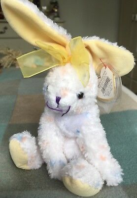 TY Beanie Babies Carrots Bunny Rabbit 2001 Tag & Protector Original Soft Toy
