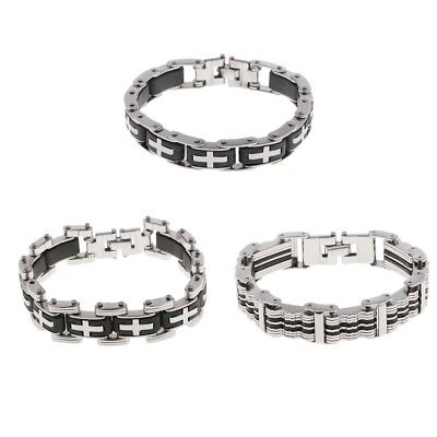 High Quality Men Stainless Steel Bike Chain Bracelet Motorbike Bicycle Chain