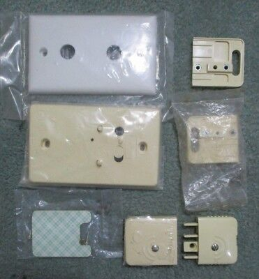Telephone Group of Mounting Plates, Mode 3 Plug & Socket ALL NEW 7 Pieces  #1