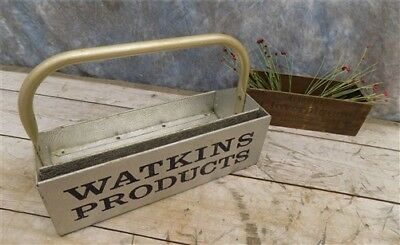 Watkins Tote Product Display Vintage Advertising Sign Metal Carrying Tray