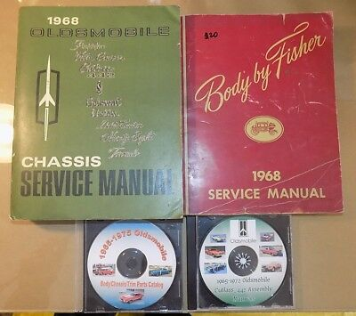 1968 Oldsmobile ORIGINAL! Service Manual 4 pc SET_442/Cutlass Supreme/F-85/Vista