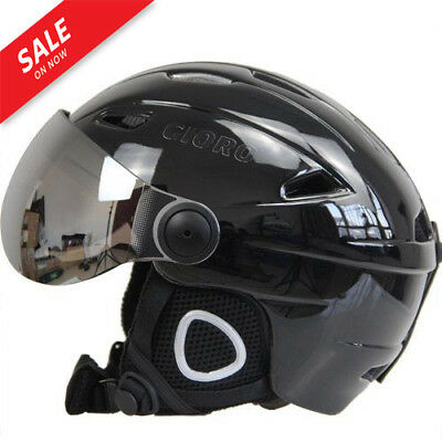 NEW Ski Snowboard Helmet With Visor Goggles Sled Sport Adult Safety Windproof