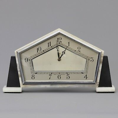 Art Deco Marble and Slate Mantel Clock by Smiths (SEC) c1930s