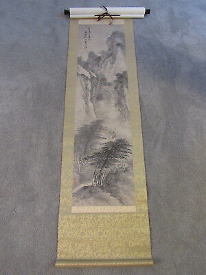Old Chinese scroll painting on paper of a landscape after Lan Ying (SF18)