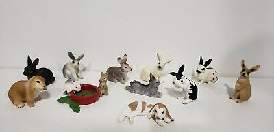 SCHLEICH lot of 11 Rabbits Animal Figures #2