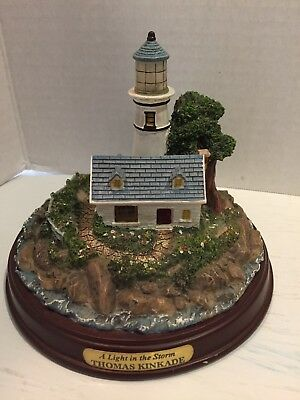 "Thomas Kinkade "" A Light in the Storm "" Lighthouse"