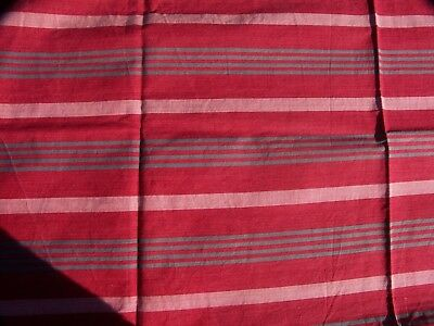 """Vintage French Ticking Fabric Antique Material  31"""" x 71"""""""