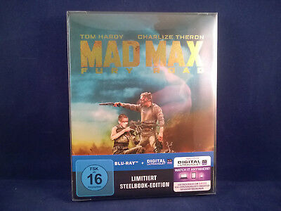 MAD MAX Fury Road - Steelbook - Bluray - German Artwork Exclusive Comme Neuf