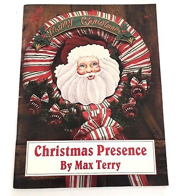 Christmas Presence Max Terry Tole Painting Book Napkin Holders Wreath Apron 1993