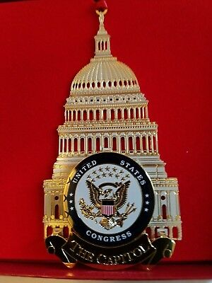 US Congress Capitol Building Ornament w/ Display Stand