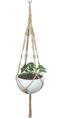 Macrame Plant Hanger Natural Hemp Rope weaved Butterfly 52-inches