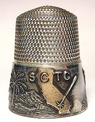 Mint Simons Sterling Southern Calif. Thimble Collectors Club Thimble c.1990