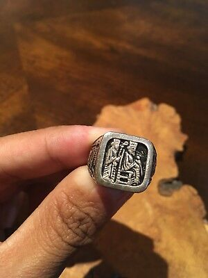 Antique Persian Engraving ISilver Ring