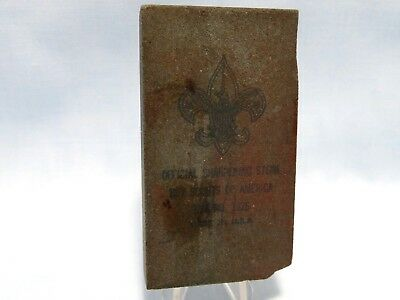 Vintage Official Boy Scouts of America Sharpening Stone #1326