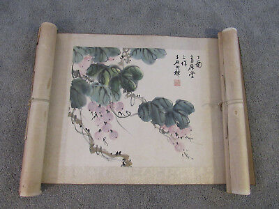 Chinese album leaf painting of flowers on paper (LG1)