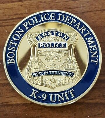Boston Police K9 Unit Challenge Coin Explosive Narcotic Patrol Dog Special Ops