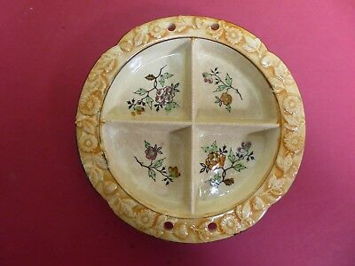 Hand-Painted Divided Plate - Made in Japan