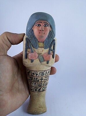 HIEROGLYPH USHABTI ANCIENT EGYPTIAN ANTIQUE Shabti 1546-1172 BC
