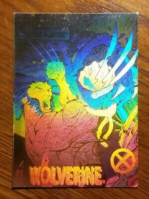 1992 Impel X-Men Series Marvel Hologram Chase Card #XH-1 Wolverine