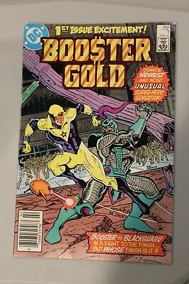Booster Gold #1 VF UNREAD DC Comics 1986 Newsstand Variant 1st appearance app
