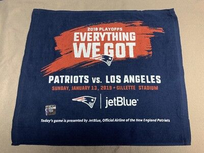 New England Patriots EVERYTHING WE GOT Rally Towel vs L.A. Chargers 1/13/19