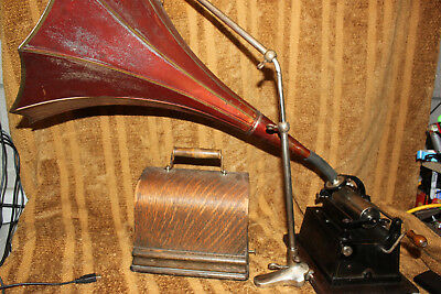 Edison Gem Phonograph Cylinder Record Player