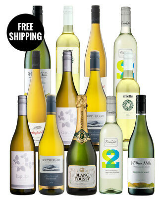 Great Entertainer Whites Dozen + Bonus Bubbly (13 Bottles)