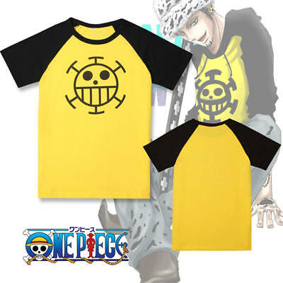 70178ac82 One Piece cosplay Trafalgar Law , anime costume Leisure 100% cotton T-shirt  men