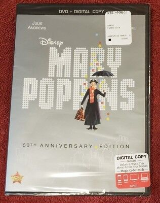 Mary Poppins - Dvd & Digital Copy - Brand New!  50Th Anniversary Edition!
