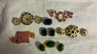 An Absolutely Beautiful Lot of  SIX Vintage Brooches and Earrings